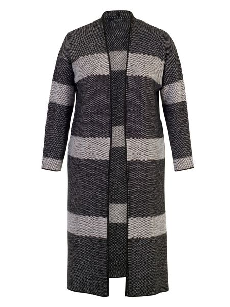 Chesca Block Stripe Edge to Edge Long Cardigan