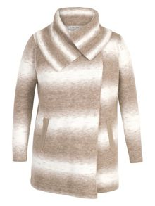 Chesca Ombre Knitted Wrap Cardigan