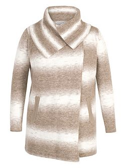 Ombre Knitted Wrap Cardigan