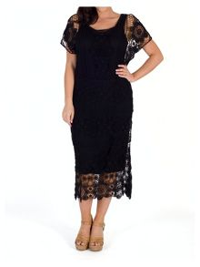 Chesca Crochet Dress With Separate Lining