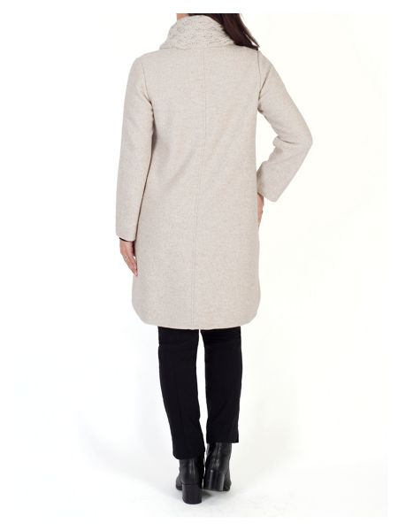 Chesca Aran Collar Wool Coat