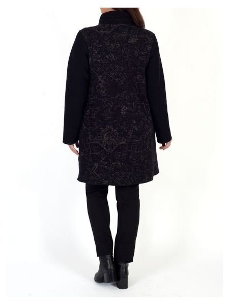 Chesca Cable Collar Baroque Jacquard Coat