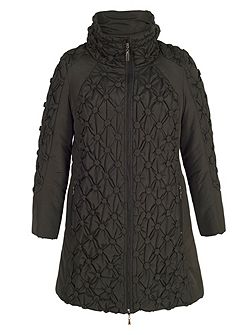 Quilted Coat with Button Detailing