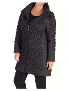 Chesca Quilted Coat with Button Detailing