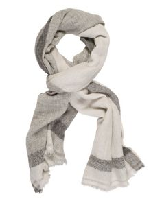 Chesca Striped Cashmere Scarf