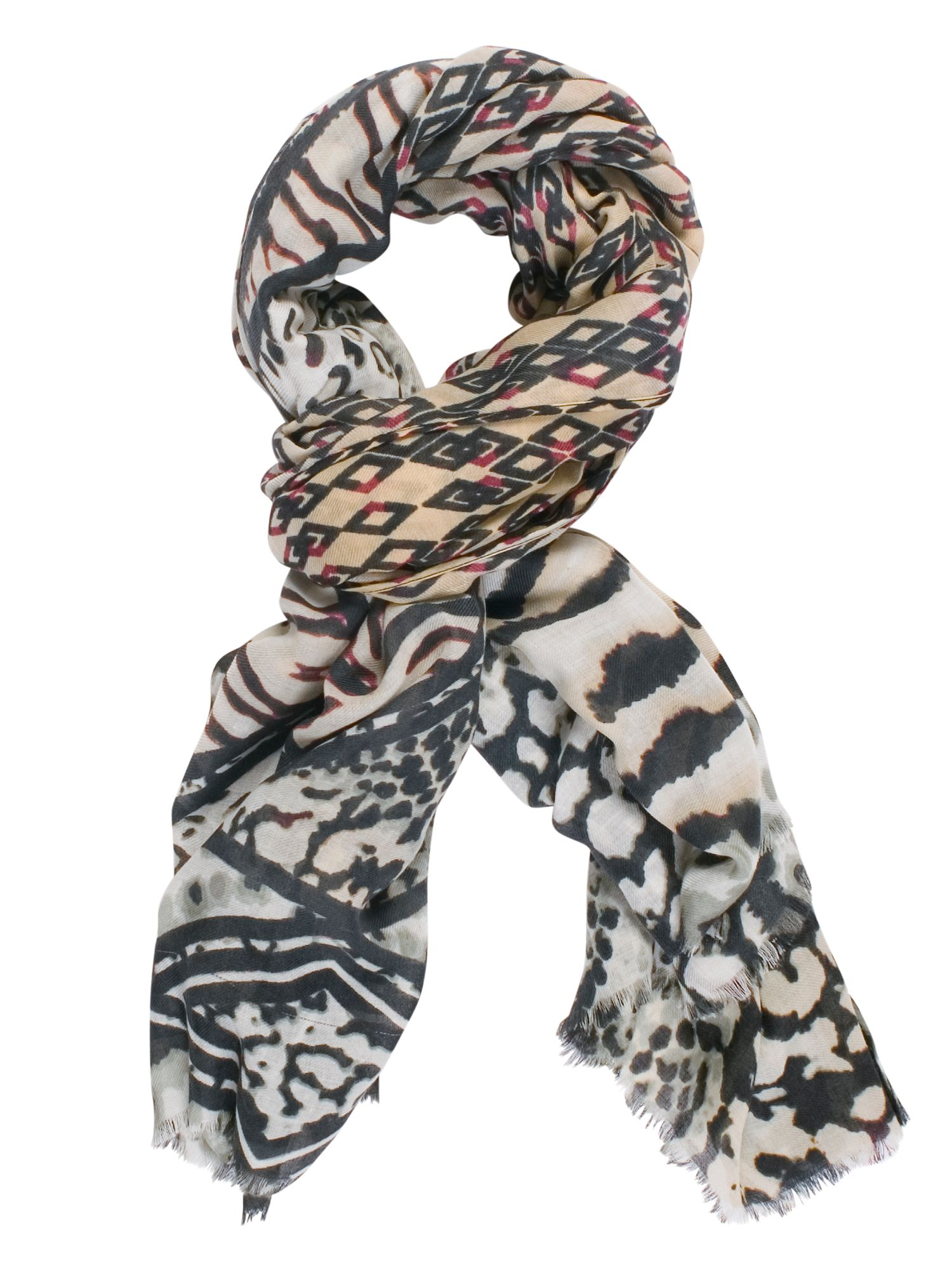 Chesca Aztec Printed Scarf, Multi-Coloured