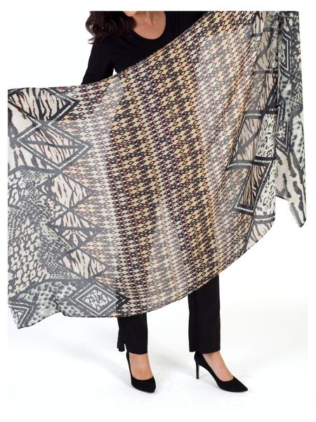 Chesca Aztec Printed Scarf