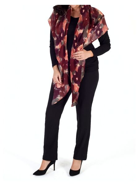Chesca Soft Floral Print Blanket Scarf