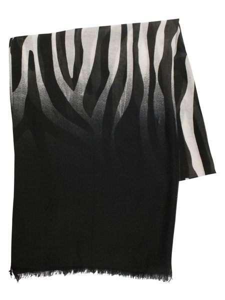 Chesca Zebra Print Scarf with Dip Dye Ends