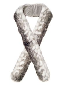 Chesca Snow Wolf Faux Fur Scarf