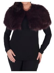 Chesca Faux Fur Luxury Shrug