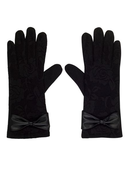 Chesca Touch Screen Wool Glove Bow Detail