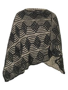 Chesca Cable Knit Poncho