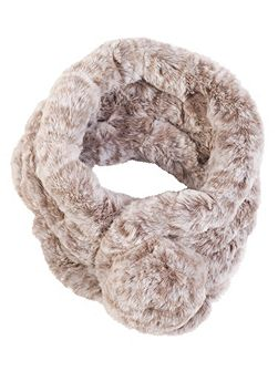 Faux Fur Collar with Pom-Pom Fastening