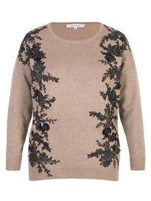Chesca Lace Trim Jumper