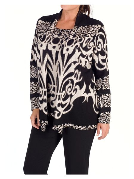 Chesca Abstract Print Jumper