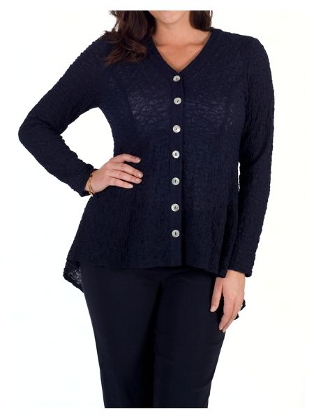 Chesca Button Back Jacket with Chiffon Trim