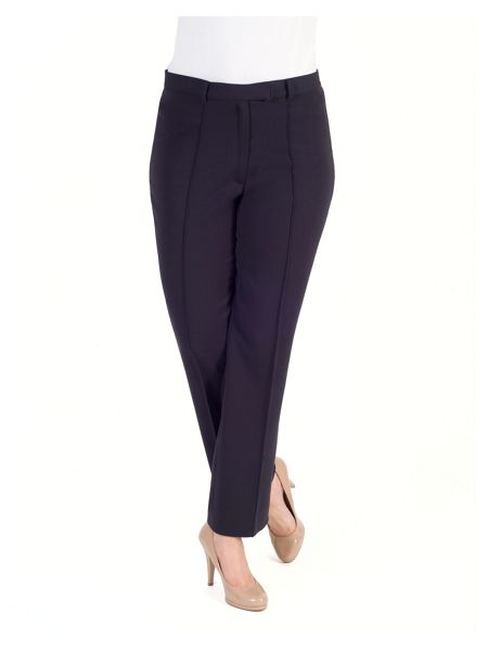 Chesca Pin Stitch Trim Stretch Trouser