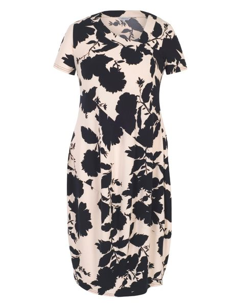 Chesca Floral Print Jersey Dress