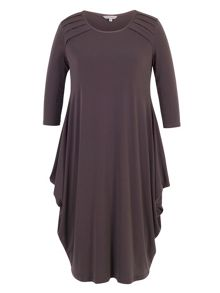 Chesca Jersey Drape Dress with Tuck Detailing