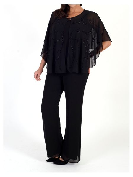 Chesca Chiffon Trouser with Satin Trim