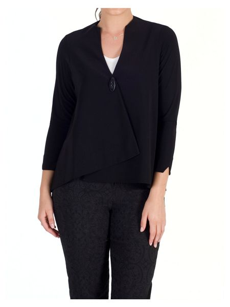 Chesca Asymmetric Jersey Jacket