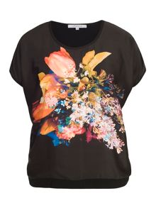 Chesca Tulip Print Jersey Backed Top
