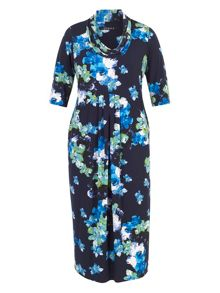 Chesca Abstract Floral Print Jersey Dress