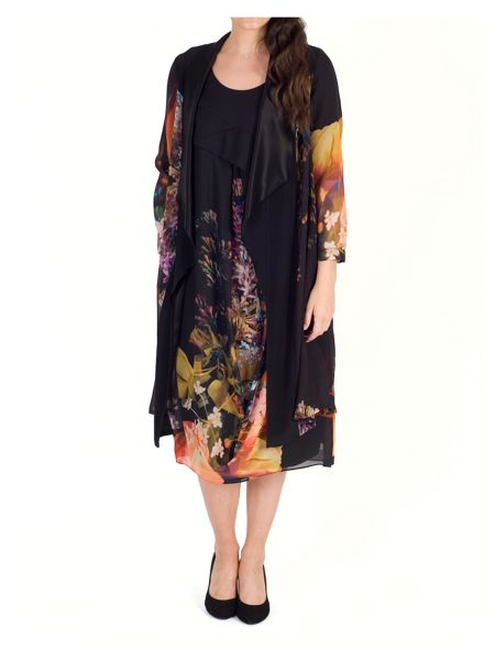 Chesca Tulip Print Chiffon & Jersey Dress