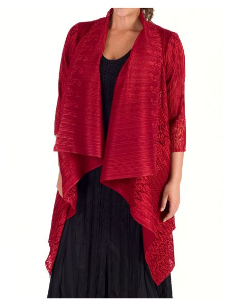 Chesca Bordered Lace Crush Pleat Shrug