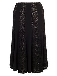 Chesca Lace and Jersey Panel Skirt