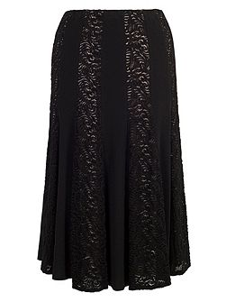 Lace and Jersey Panel Skirt