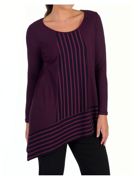 Chesca Double Stripe Tunic