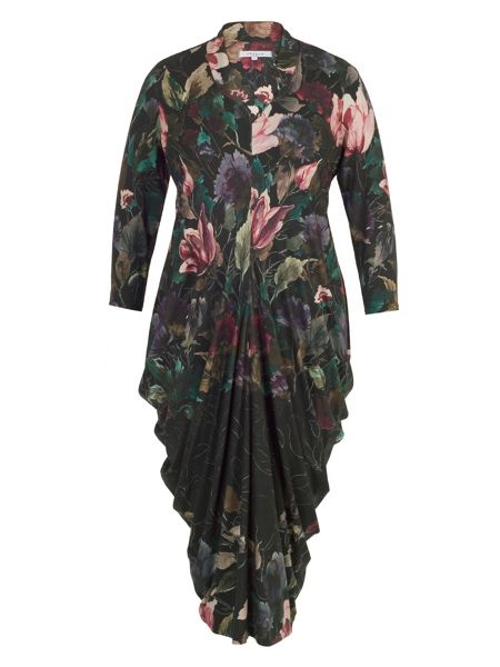 Chesca Floral Border Print Jersey Dress