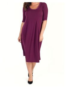 Chesca Jersey Dress with Seamed Detail