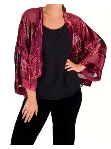 Chesca Butterfly Printed Velvet Jacket