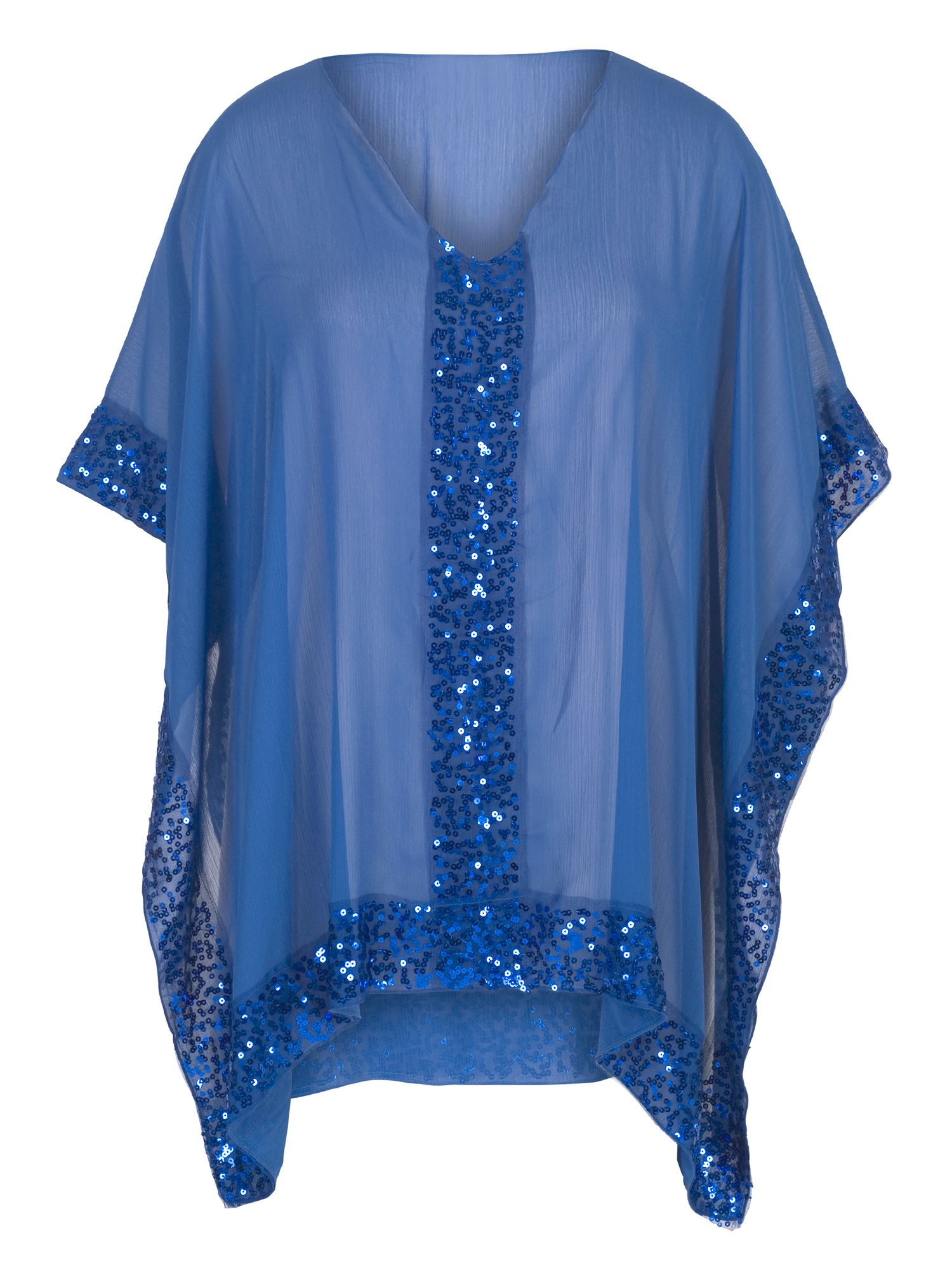 Chesca Sequin Detail Cover Up, Blue