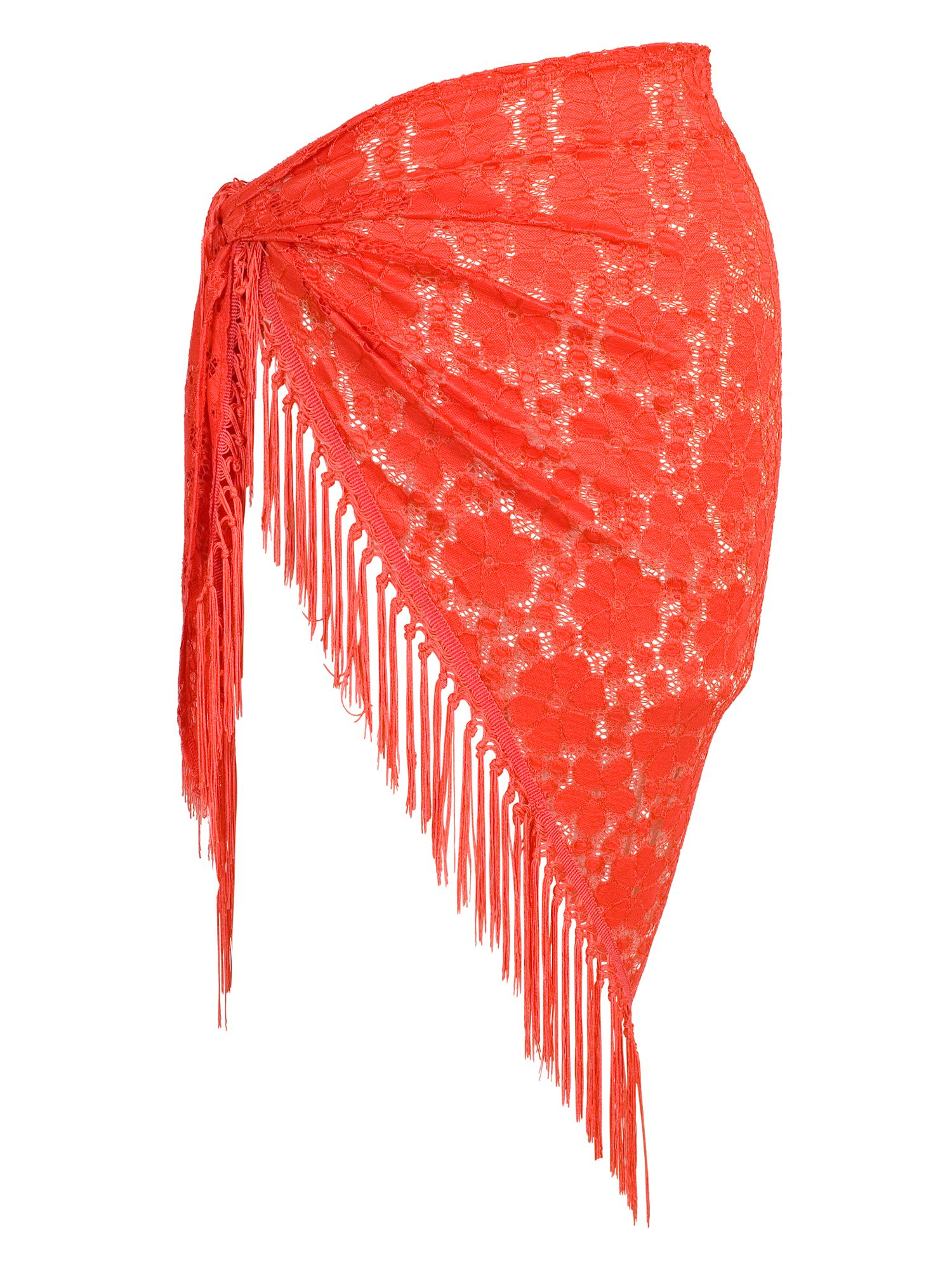 Chesca Floral Lace Sarong, Red