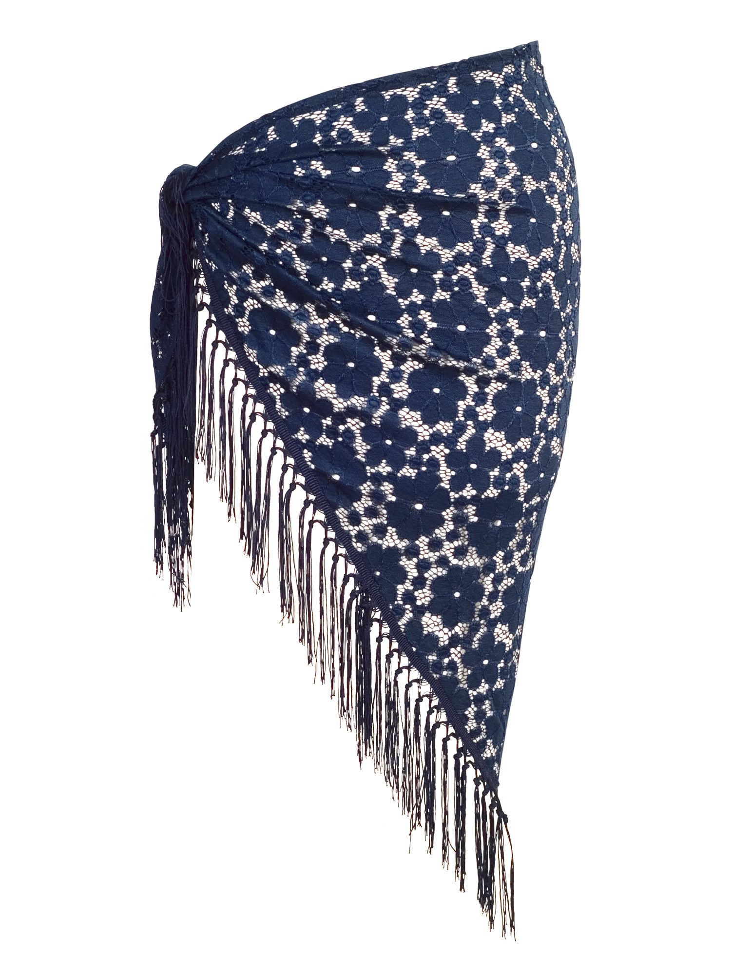 Chesca Floral Lace Sarong, Blue
