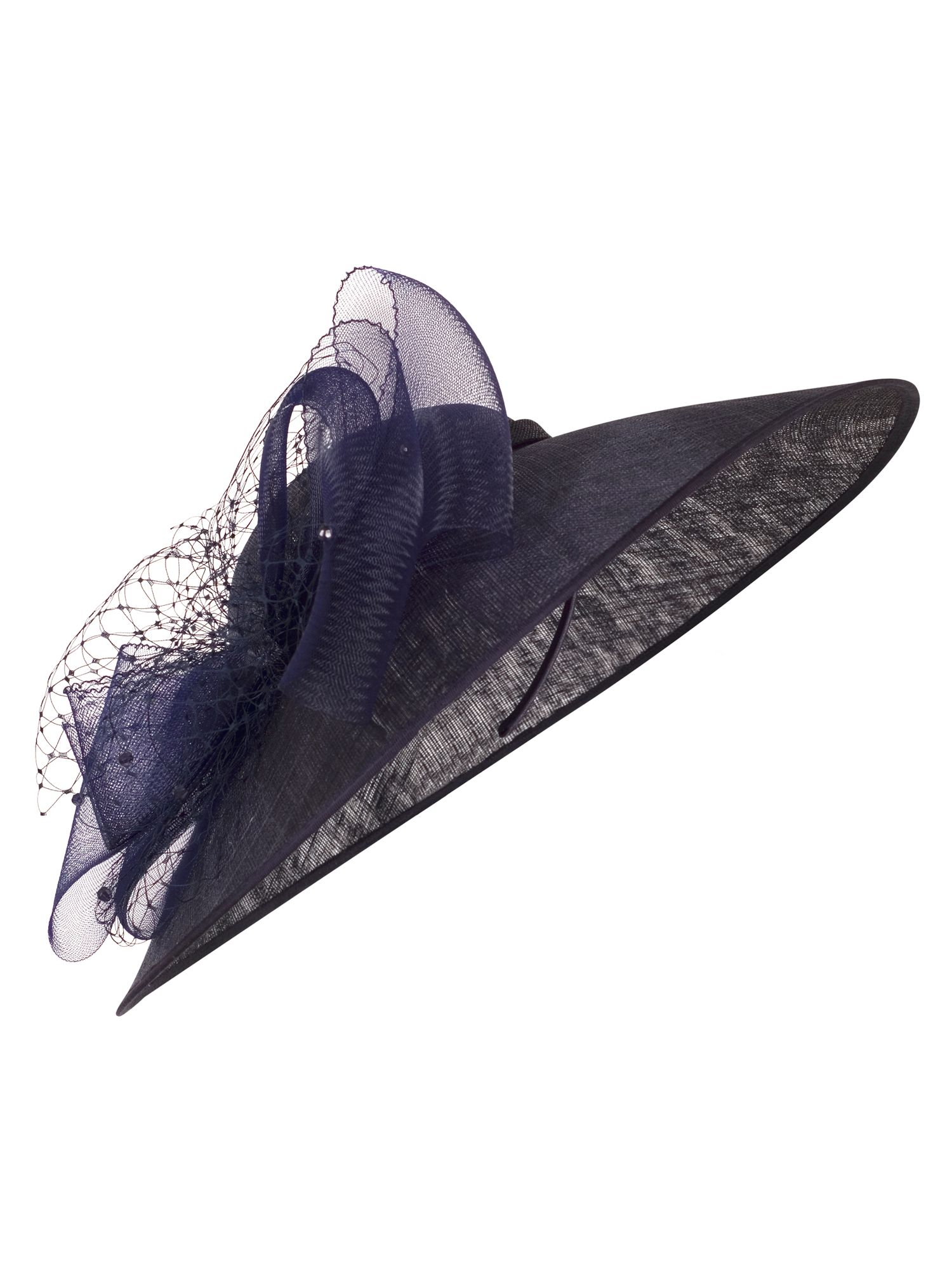 Retro Vintage Style Hats Chesca Net and Bow Hatinator Navy £125.00 AT vintagedancer.com