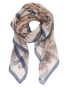 Chesca Butterfly and Leaf Printed Scarf