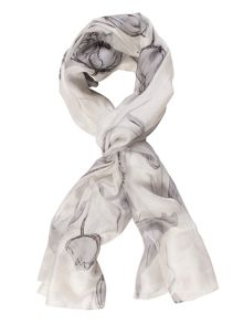 Chesca Abstract Tulip Print Scarf