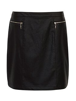 Keira Textured Pu Skirt