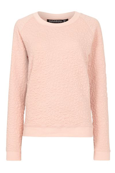 Sugarhill Boutique Betty Floral Embossed Sweater