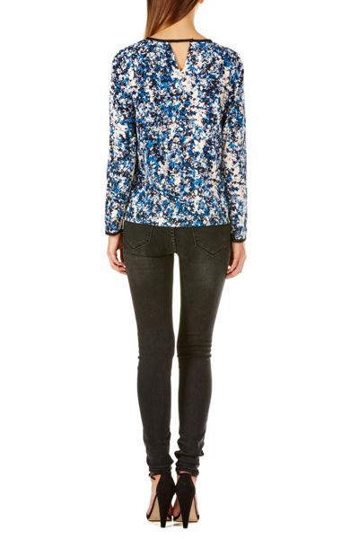 Sugarhill Boutique Katelyn Floral Smudge Top