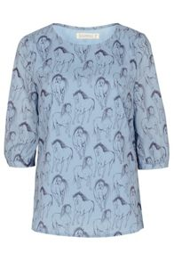 Sugarhill Boutique Fifi Running Horse Cross Back Top