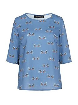 Alexa Folk Bird Top