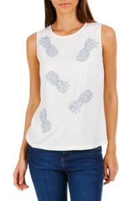 Sugarhill Boutique Carly Pineapple Cutwork Top