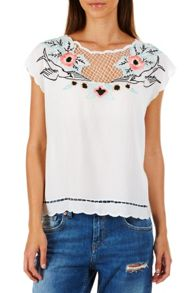 Sugarhill Boutique Nixie Cutwork Embro Top