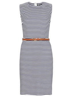 Talia Stripe A-Line Shift Dress